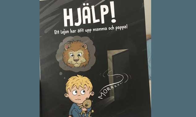 Hjälp ett lejon har ätit upp mamma och pappa
