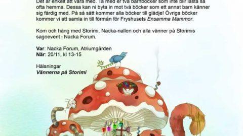 Missa inte Bokbytardag i Nacka Forum